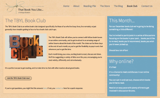 book club tbyl website